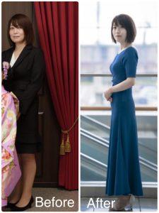 明石 奈央子のビフォーアフター写真